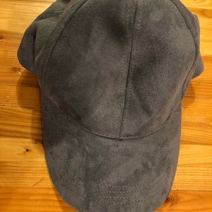 Felt gray baseball hat